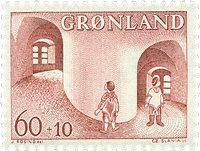Groenland - 1968. Surtaxe au profit de l´enfance -  60+10 øre - Rouge