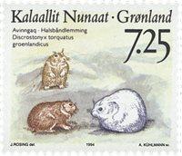 Groenland - 1994. Faune de l´arctique - 7,25 kr. -  Multicolore