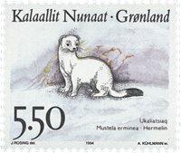Grønland - 1994. Landdyr i Grønland - 5,50 kr. - Flerfarvet