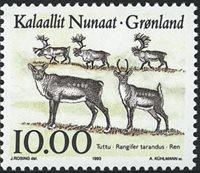 Grønland - 1993. Dyr i Grønland - 10,00 kr. - Flerfarvet
