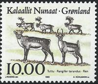 Groenland - 1993. Faune de l´Arctique - 10,00 kr. - Multicolore