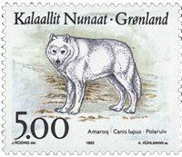 Grønland - 1993. Dyr i Grønland - 5,00 kr. - Flerfarvet
