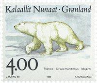 Grønland - 1995. Landdyr i Grønland II - 4,00 kr. - Flerfarvet