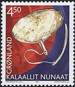 Grønland - 2002. Grønlands arv og kultur III - 4,50 kr. - Flerfarvet
