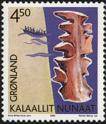 Grønland - 2000. Grønlands arv og kultur I - 4,50 kr. - Flerfarvet