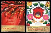 Ungarn - Frimærkets dag - Stemplet sæt 2v