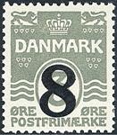 Danemark - Typographie AFA 117