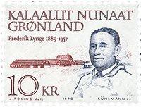 Groenland - Portraits d´hommes politique - 10 kr -  Bleu-noir et brun-rouges