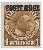 Danmark - 1919. Postfærge. AFA PF4