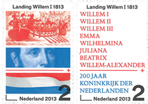 Holland - 200 år kongerige - Postfrisk sæt 2v