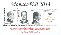 Monaco - Exposition Monacophil 2013 - Bloc-feuillet neuf