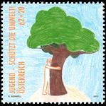 Østrig - Miljøbeskyttelse blandt unge - Postfrisk frimærke