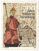 Autriche - Walser à Vorarlberg - Timbre neuf