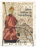 Autriche - Walser à Vorarlberg - Timbre oblitéré