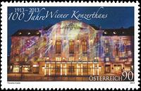 Autriche - Maison des Concerts de Vienne - Timbre neuf