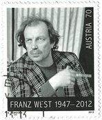 Autriche - Franz West - Timbre oblitéré