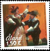Åland - Centenaire de l'association de théâtre - Timbre neuf