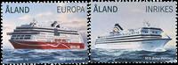Åland - Passagerskibe - Postfrisk sæt 2v