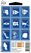 Holland - Nationalsymboler - Postfrisk miniark 10v