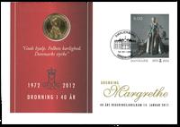 Danmark - Margrethe 40 års jubilæum - Møntbrev incl. abonnement på kongelige begivenheder