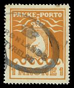 Grønland Pakkeporto Thiele 1930, 1 kr.