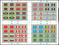 Verenigde Naties vlag 1983 - Postfris velletje