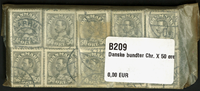 Danmark - bundter - Chr. X 50 øre grå - 10 stk.