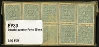 Danmark - bundter - Porto 25 øre blå - 10 stk.