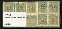 Danmark - bundter - Porto 6 øre oliven - 10 stk.