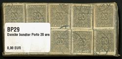 Danmark - bundter - Porto 20 øre grå - 10 stk.