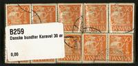 Danmark - bundter - Karavel 30 øre gul - 10 stk.