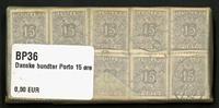 Danmark - bundter - Porto 15 øre violet - 10 stk.