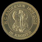 Danemark - H.C. Andersen - Le vilain petit canard - 10 couronnes