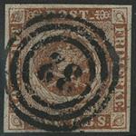 Danmark 1854 - AFA nr. 1 - 111b - fire RBS Thieles  III tryk