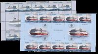 Åland - Passagerfærger - Postfrisk gutter 10-stribe