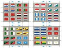 Nations Unies drapeaux 1989 feuillet neuf
