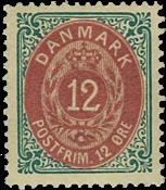 Danmark 1875 - AFA nr.26a ubrugt