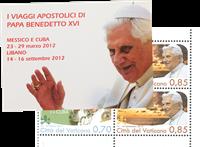 Vatican - Pope Benedict's travels - Mint booklet