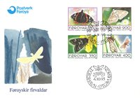 Faroe Islands - Butterflies - FDC