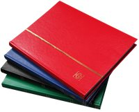 Stockbook - Size A4 - 32 black pages - leatherette   cover