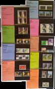 Nederland - Postzegelmapjes jaar 1986 compleet (nrs. 34-42,postfris)