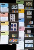 Nederland - Postzegelmapjes jaar 1990 compleet (nrs. 71-79,postfris)