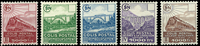 France 1941 colis postaux YT 177a-181a