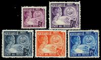 Nederland Indië - Leger des Heils 1936 (nr. 221-225, ongebruikt)