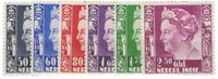 Nederland Indië - Koningin Wilhelmina op groot formaat (nr. 205-210, postfrisk)