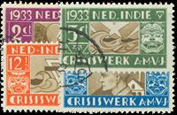 Nederland - A.M.V.J. -zegels 1933 (nr. 182-185, gebruikt)