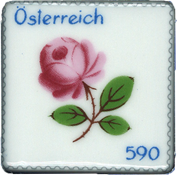 Austria - Porcelain stamp - Mint souvenir sheet