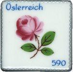 Austria - Porcelain stamp - Mint souvenir sheet