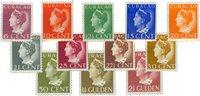 Curacao - Koningin Wilhelmina (Konijnenburg) (nr. 141-152, postfrisk)