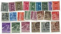 Nederland - Frankeerzegels met overdruk Ris 1950-1951 (nr. 3-25, post